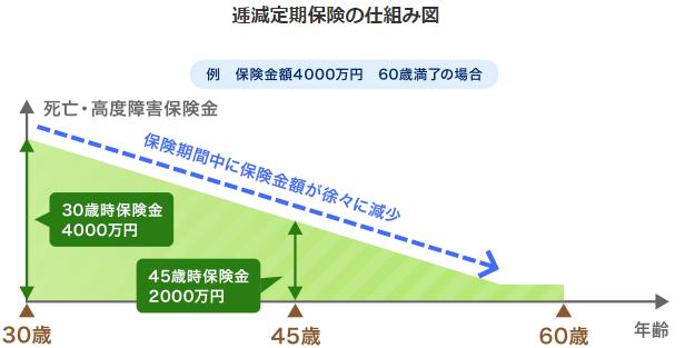 逓減定期保険(ていげん)